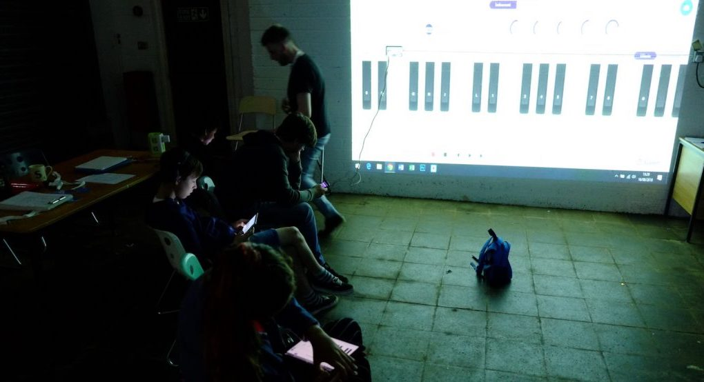 Photo of Kevin Grist's Audio Camp workshop for Hastings Creative Summer