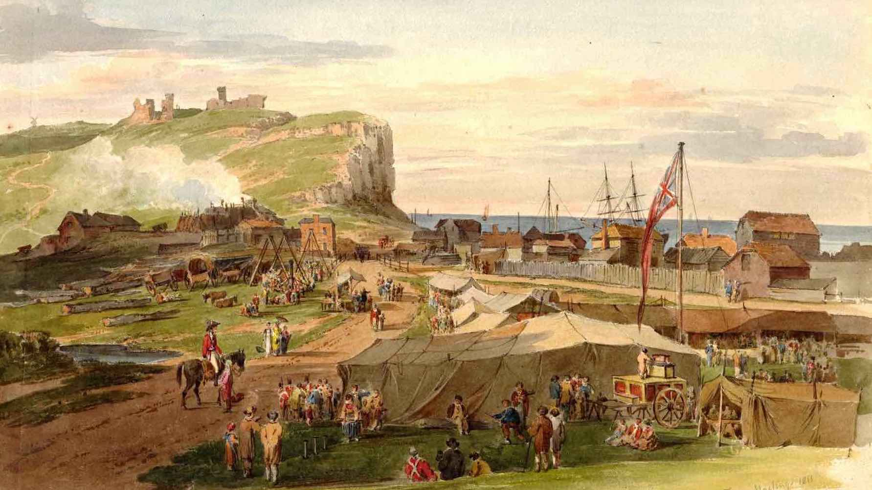 Painting of the Rock Fair, 1811 July by Paul Sandby Munn for Rock On, Rock Fair project by MSL Projects