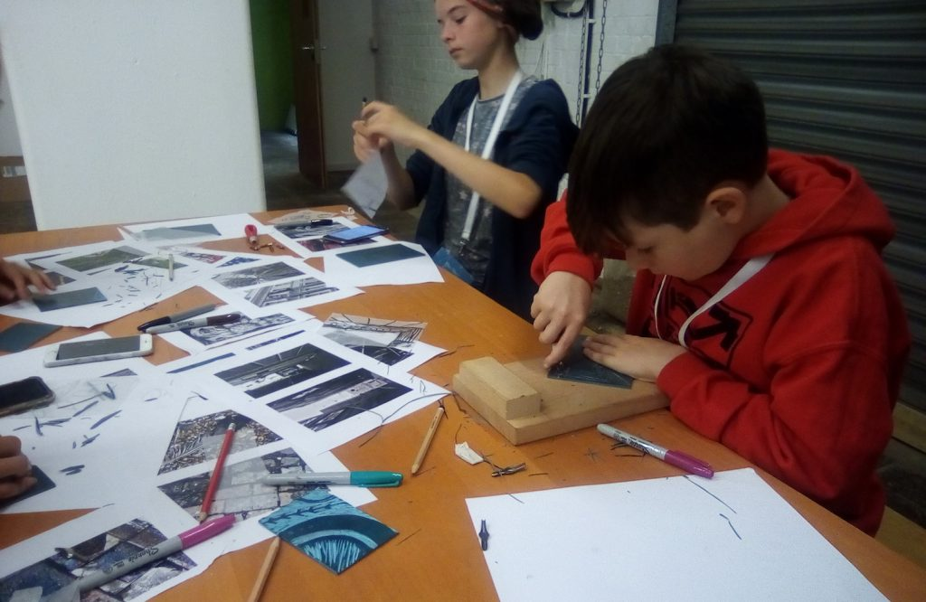 Photo of participants of Sue Townshend's Branding Textile Design workshop for Hastings Creative Summer