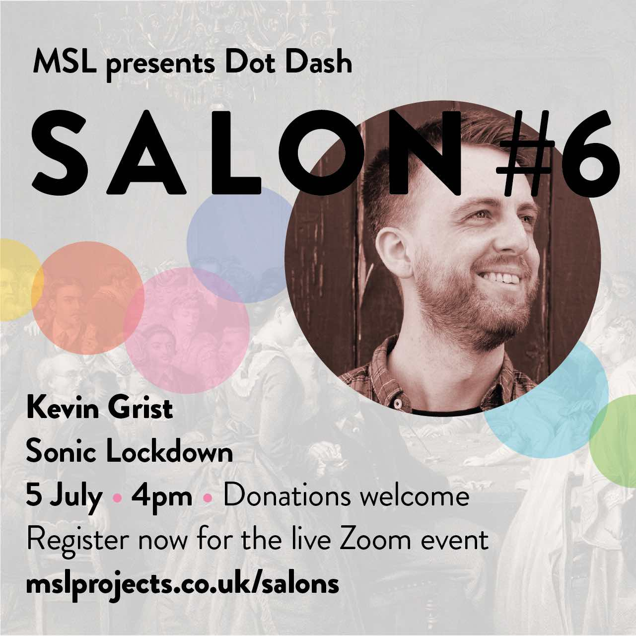 Salon 6 Sonic Lockdown Sunday 5 July 4pm for MSL Projects