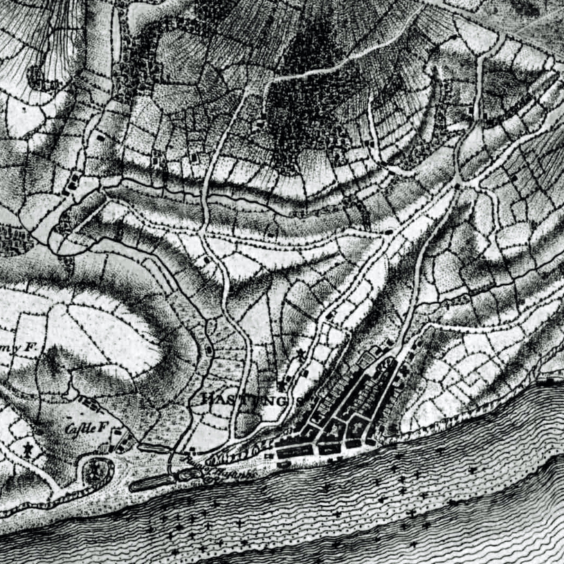 1778-83 Yeakell & Gardner map of Hastings for MSL Discovery Day