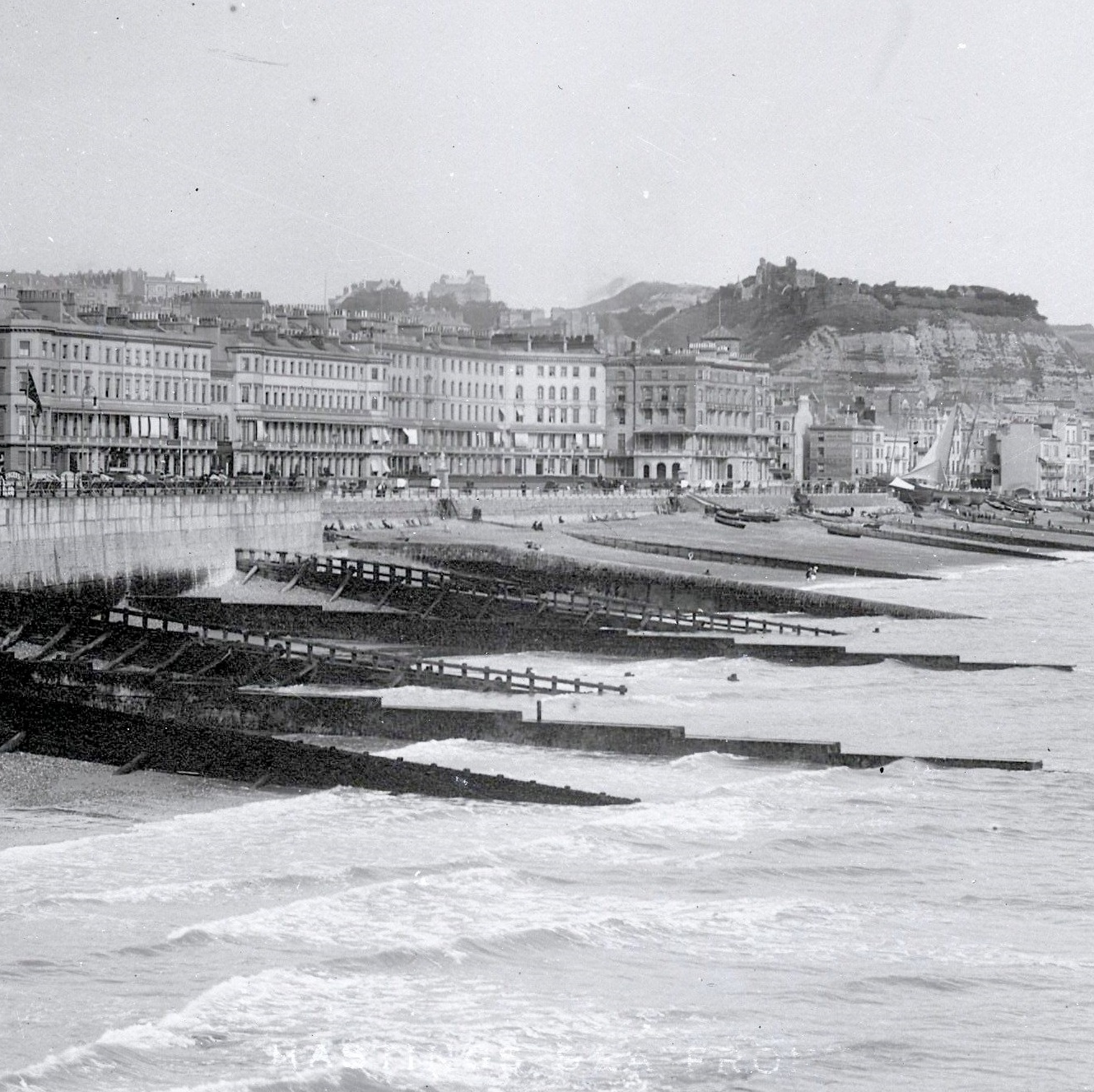 View of Hastings looking east from Hastings pier c.1905 for MSL Discovery Day