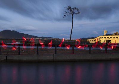 Survive as a semaphore signal at Rikuzentakata in Japan