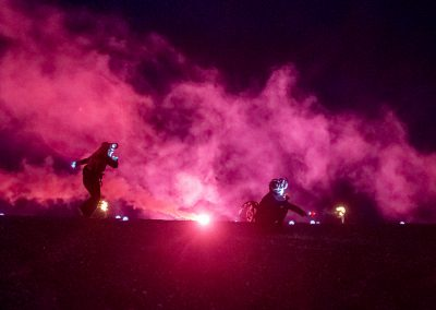 Satyrs in smoke at Semaphore event