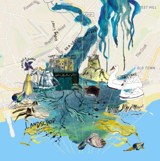 The Sea Beneath town map