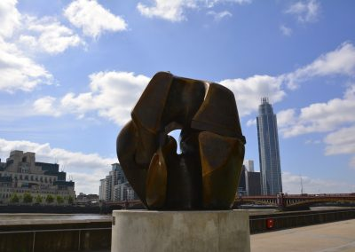 Sculpture on the banks of the River Thames taken for the Tate à Tate project for MSL Projects